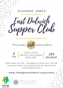 East Dulwich Supper Club for Linkage @ fifty seven