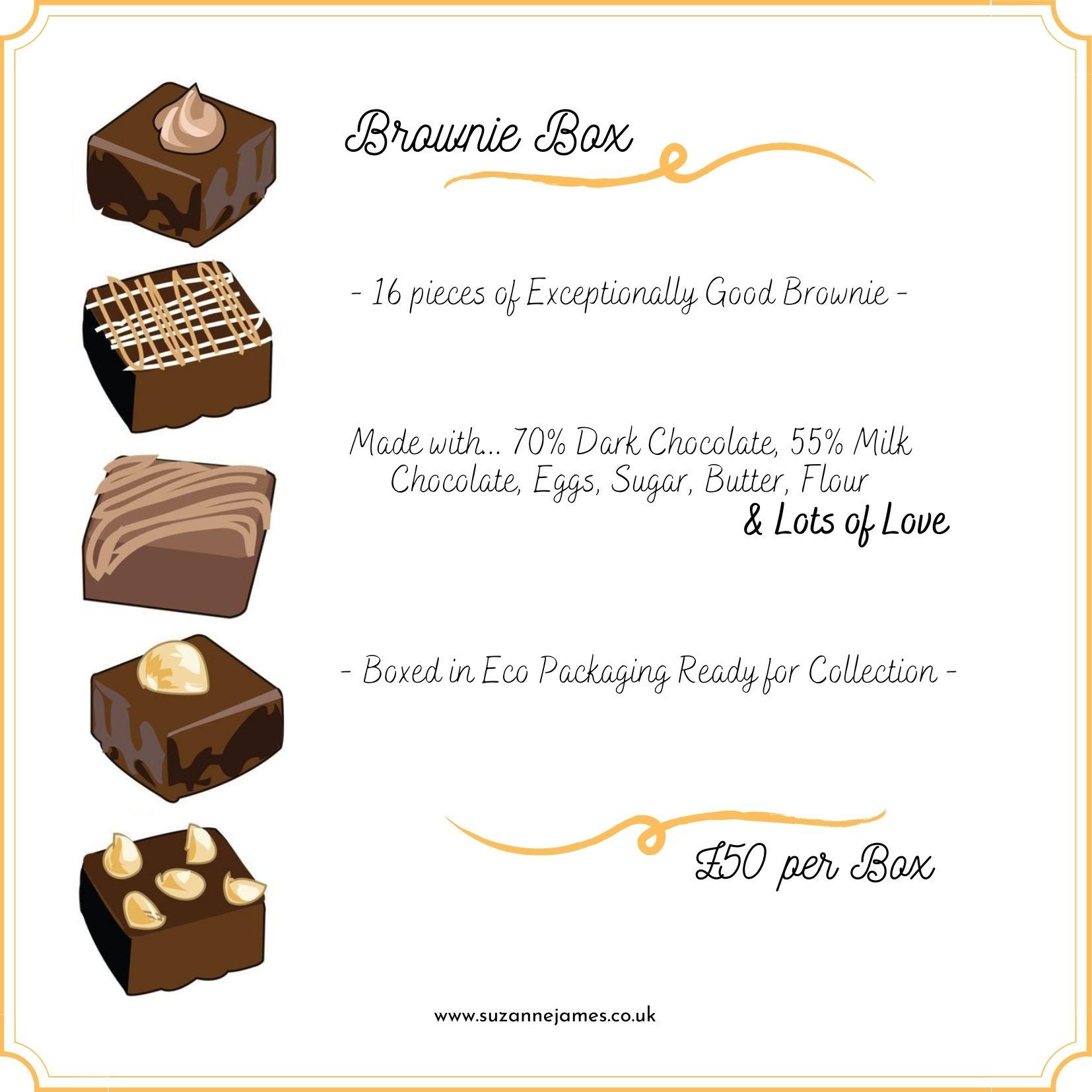 Brownie Box 16 Brownie Pieces Suzanne James